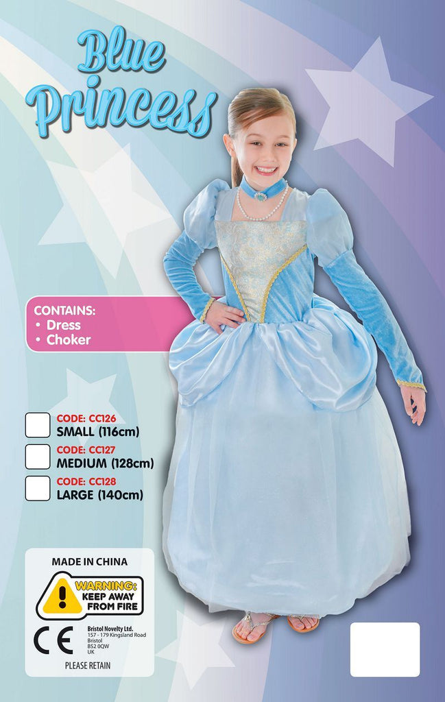 Blue Princess Dress Choker Medium Childrens Costumes Girls