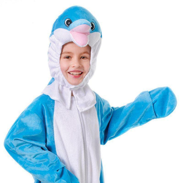 Dolphin With Head 128Cm Childrens Costumes Unisex 128Cm - Boys Costumes Mad Fancy Dress
