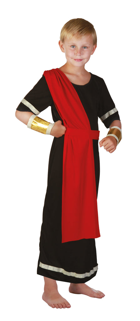 Caesar Black Small Childrens Fancy Dress Costumes Boys black red