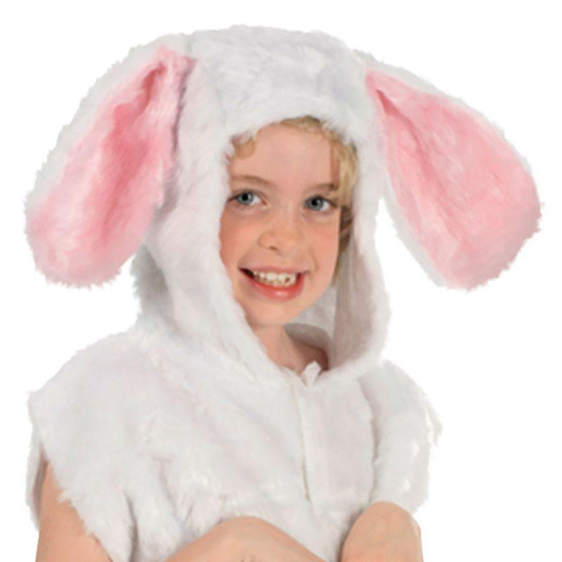 Rabbit Fur Tabbard Childrens Costumes Unisex One Size - Boys Costumes Mad Fancy Dress