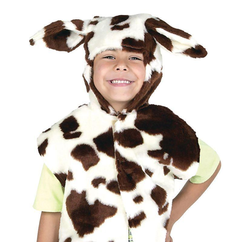 Cow Fur Tabbard Childrens Costumes Unisex One Size - Boys Costumes Mad Fancy Dress