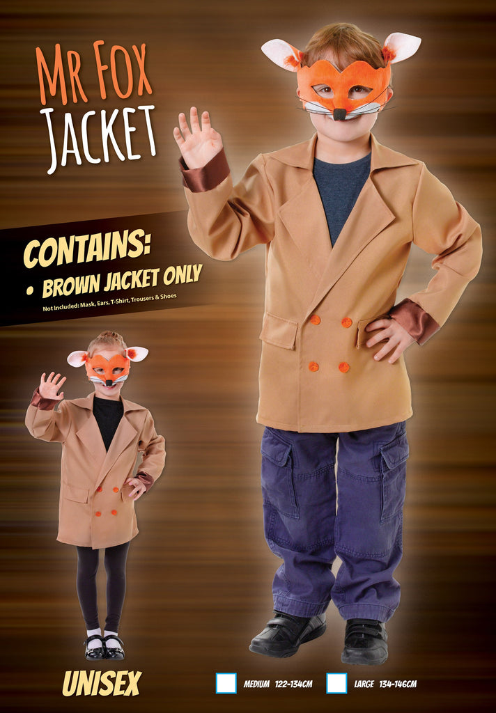 Fox Jacket (L) Pack Contents : Jacket Only Male Kids To fit child of height 134cm 146cm Colour : Brown