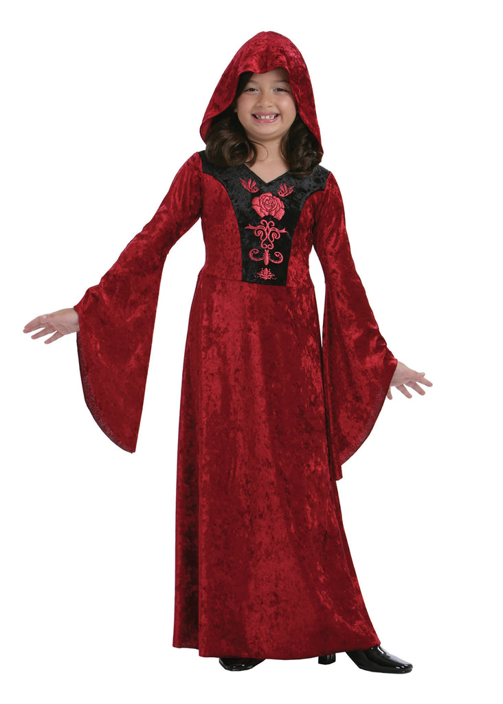 Gothic Vampiress (M) (Childrens Costumes) Female Medium
