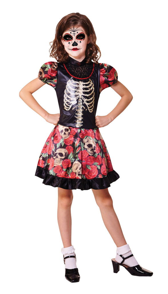 Day of the Dead Girl (M) (Childrens Costumes) Female Medium