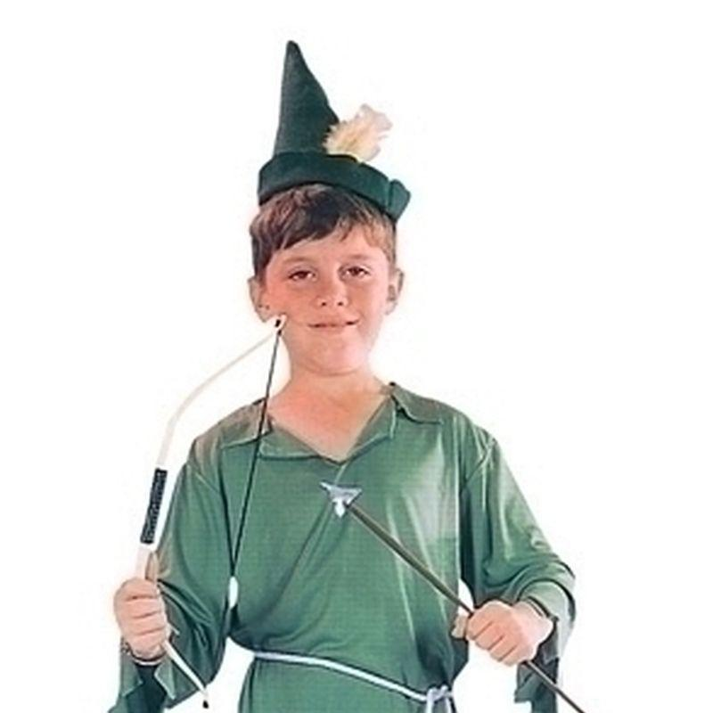 Boys Peter Pan/robin Hood |Small| Green Childrens Costumes Male Small 5 7 Years Halloween Costume - Boys Costumes Mad Fancy Dress