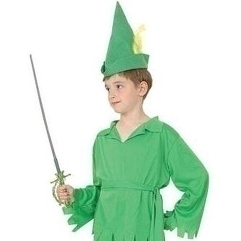 Boys Peter Pan/robin Hood |Large| Green Childrens Costumes Male Large 9 12 Years Halloween Costume - Boys Costumes Mad Fancy Dress