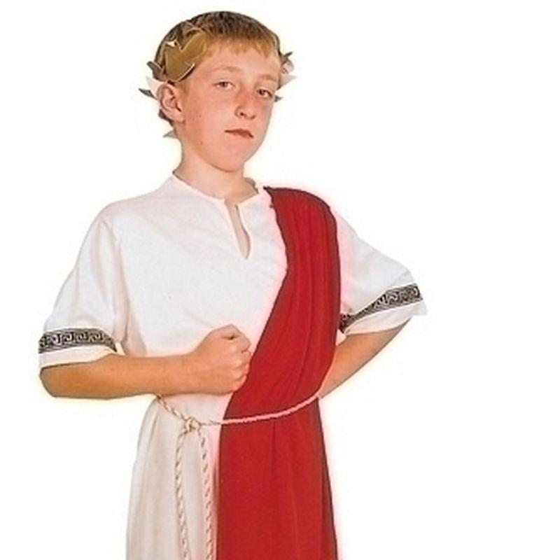 Boys Roman Emperor |Large| Childrens Costumes Male Large 9 12 Years Halloween Costume - Boys Costumes Mad Fancy Dress