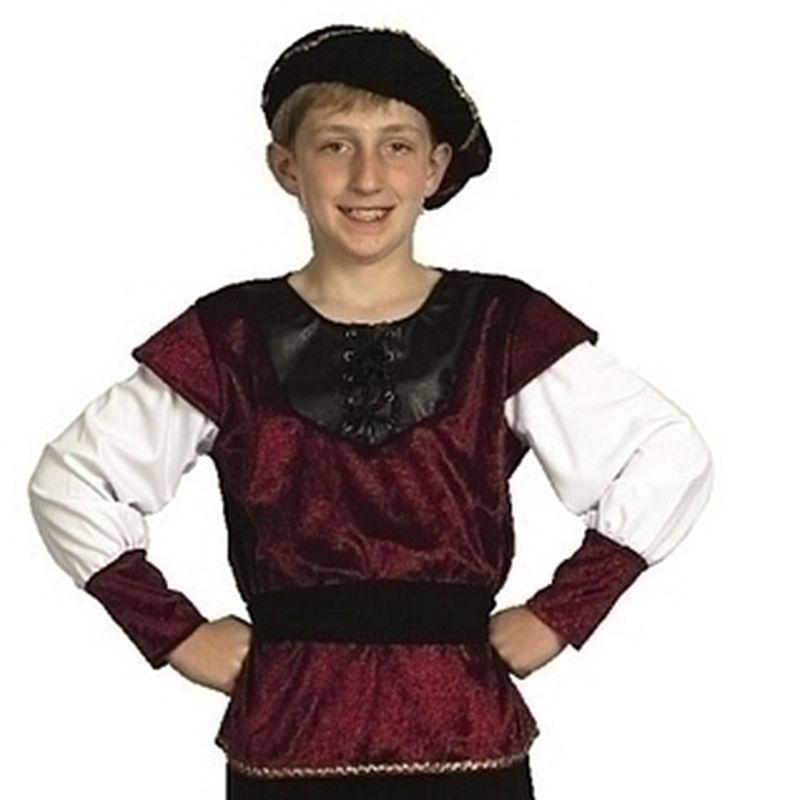Boys Renaissance Prince |Large| Childrens Costumes Male Large 9 12 Years Halloween Costume - Boys Costumes Mad Fancy Dress