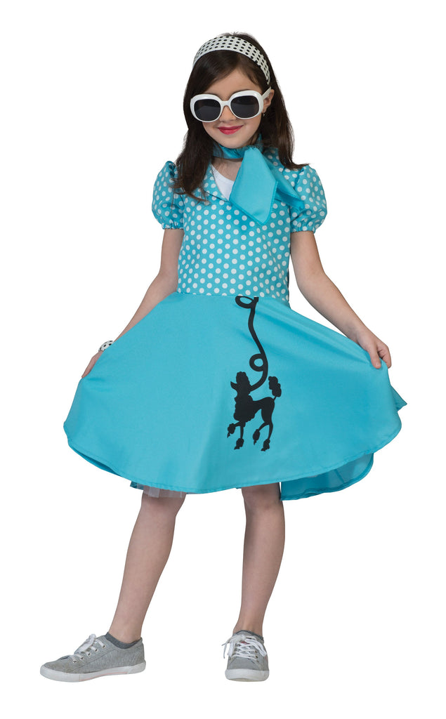 Poodle Dress Blue (L) (Childrens Costumes) Female Large