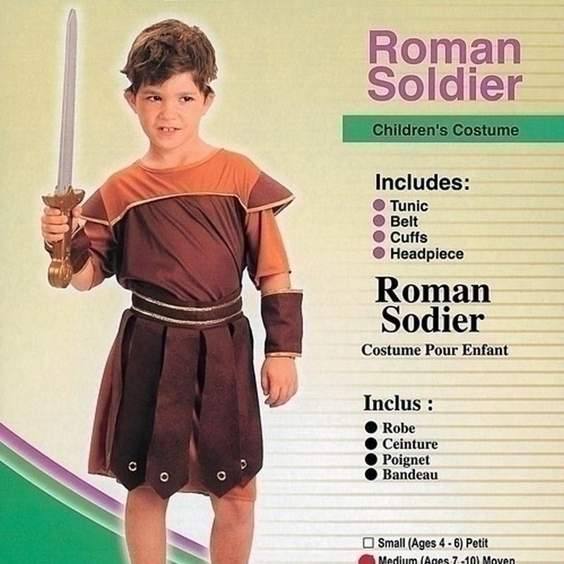 Boys Roman Soldier |Small| Childrens Costumes Male Small 5 7 Years Halloween Costume - Boys Costumes Mad Fancy Dress