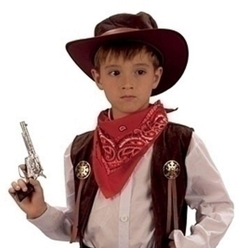 Boys Cowboy |Medium| Cowprint Chaps Childrens Costumes Male Medium 7 9 Years Halloween Costume - Boys Costumes Mad Fancy Dress