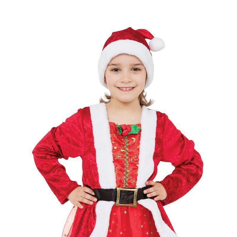 Santa Girl |S| |Childrens Costumes| To Fit Child Of Height 110Cm 122Cm - Girls Costumes Mad Fancy Dress