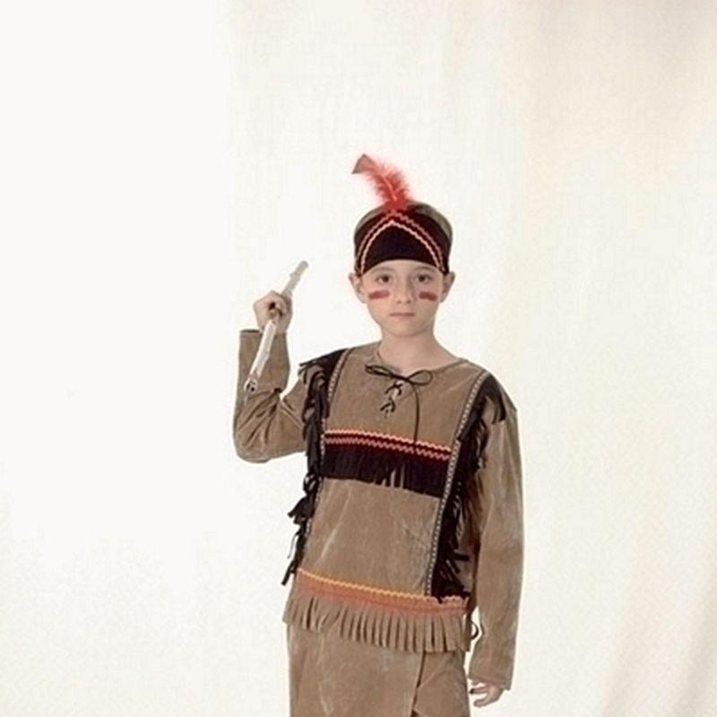 Boys Indian Boy Deluxe |Medium| Childrens Costumes Male Medium 7 9 Years Halloween Costume - Boys Costumes Mad Fancy Dress