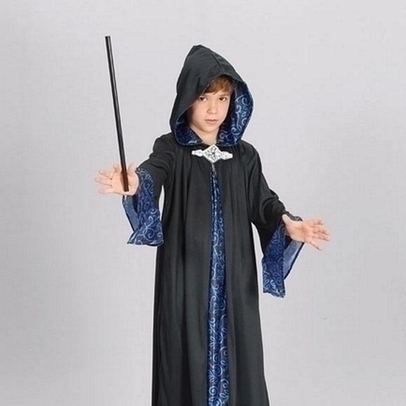 Boys Wizard Robe |Large| Childrens Costumes Male Large 9 12 Years Halloween Costume - Boys Costumes Mad Fancy Dress
