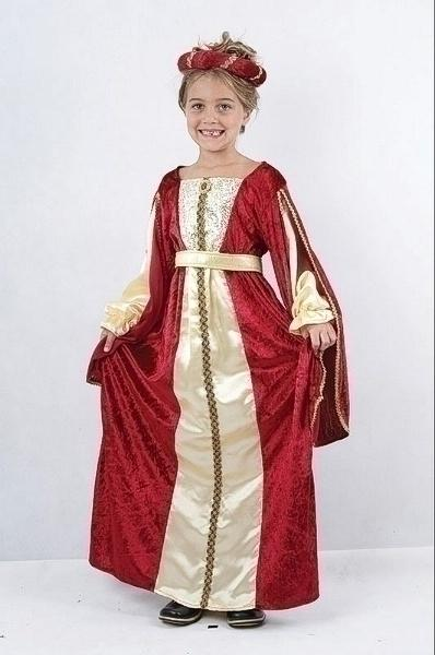 Regal Princess Red XL Children's Costumes Girls 158cm Red gold