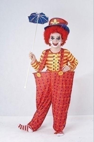 Hoop Clown Small Childrens Fancy Dress Costume Boys Small 5 7 years Red Yellow