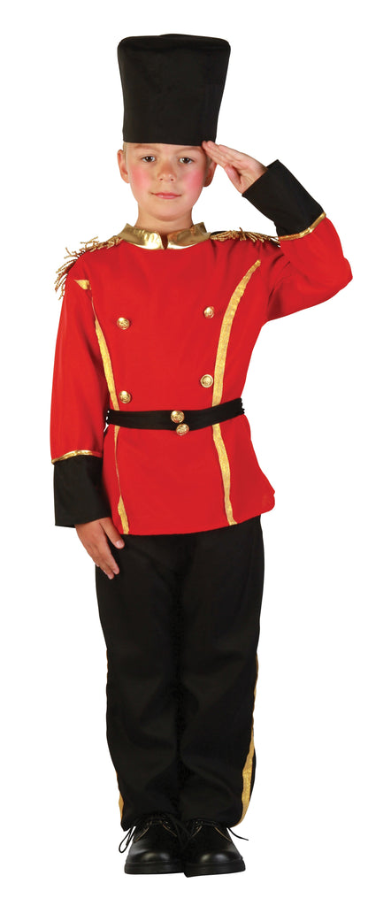 British Guard Small Childrens Fancy Dress Costumes Boys red black