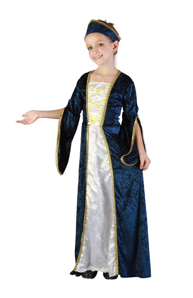 Regal Princess Blue Large Childrens Fancy Dress Costumes Girls white blue