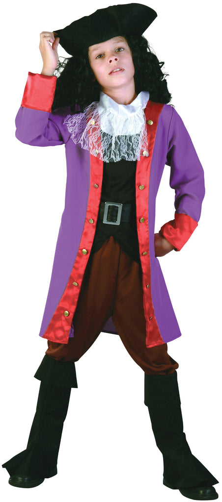 Pirate Hook Large Childrens Fancy Dress Costumes Girls grey
