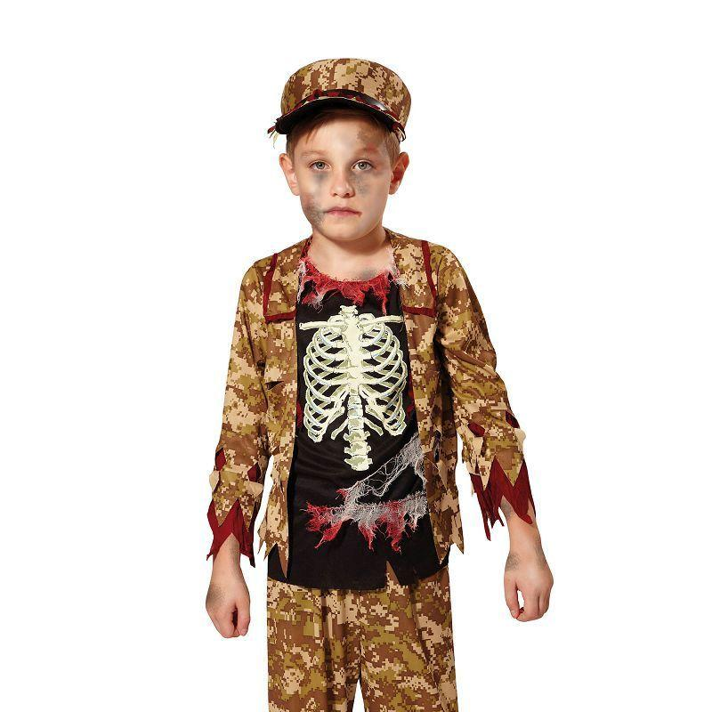 Skeleton Boy Soldier |L| |Childrens Costumes| Male Large - Boys Costumes Mad Fancy Dress