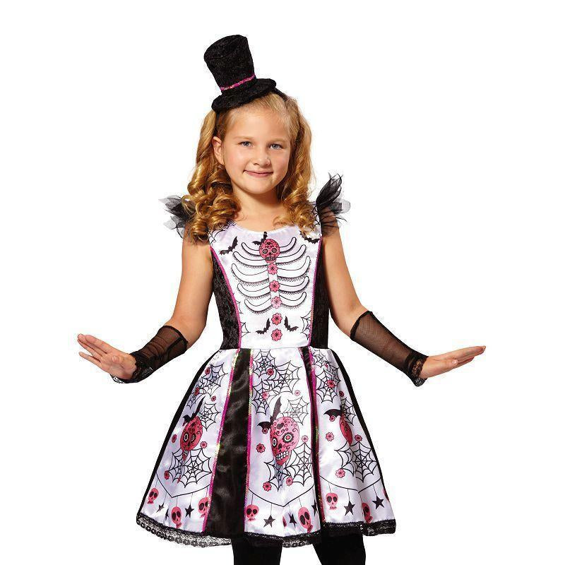 Skeleton Beauty |L| |Childrens Costumes| Female Large - Girls Costumes Mad Fancy Dress