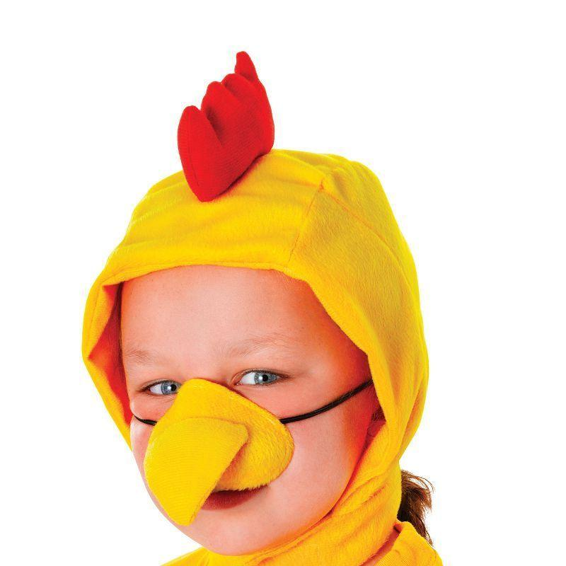 Chicken Set Childs |Hood + Nose| |Instant Disguise| Unisex One Size - Instant Disguises Mad Fancy Dress