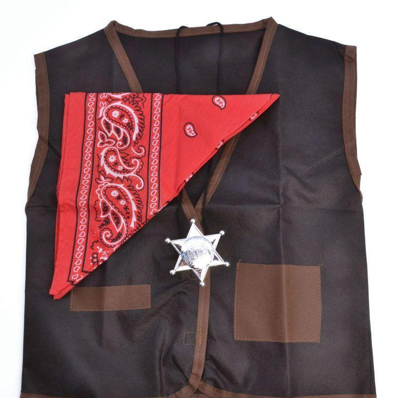 Cowboy Set Waistcoat/bandana |Instant Disguises| Unisex One Size - Instant Disguises Mad Fancy Dress