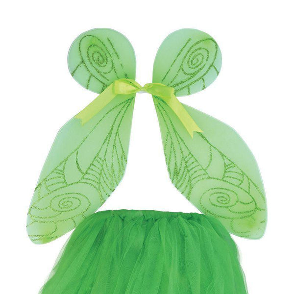 Girls Fairy Wings + Tutu Set Green |Instant Disguises| Female One Size Halloween Costume - Instant Disguises Mad Fancy Dress