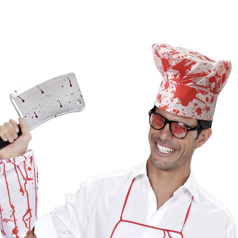 Chef Set Bloody |Hat Apron + Sleeve| |Instant Disguises| - Instant Disguises Mad Fancy Dress