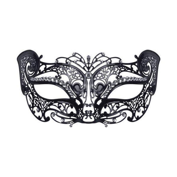 Filigree Cat Mask w/Stone (Metal)