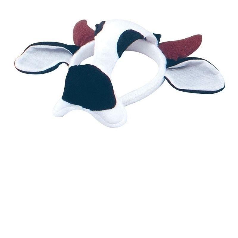Cow Mask On Headband & Sound |Eye Masks| Unisex One Size - Eye Masks Mad Fancy Dress