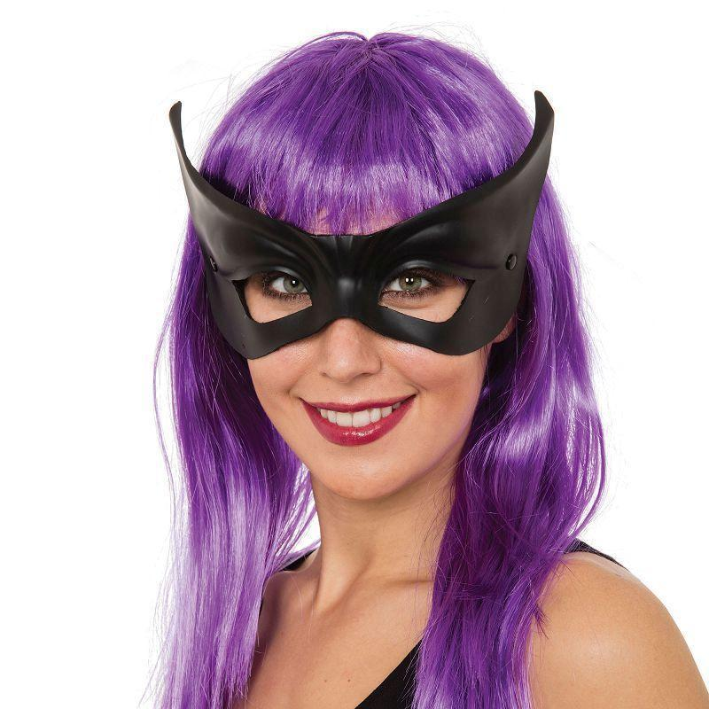 Black Flyaway |Glasses Frame| Mask |Eye Masks| Female One Size - Eye Masks Mad Fancy Dress