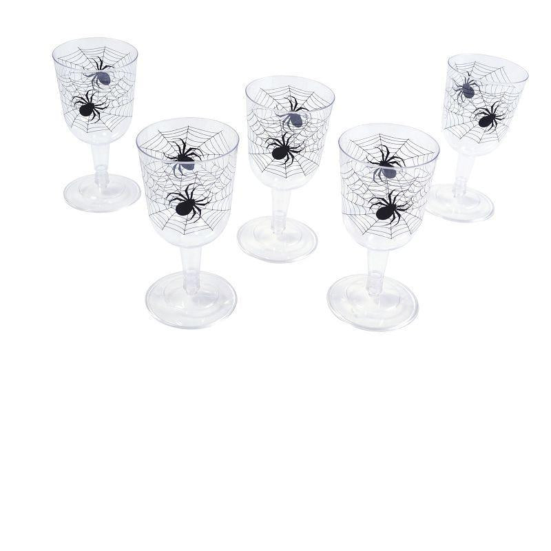 Spiderweb Goblet |6 Pieces In A Box| |Halloween Items| Unisex One Size - Halloween Costumes And Accessories Mad Fancy Dress