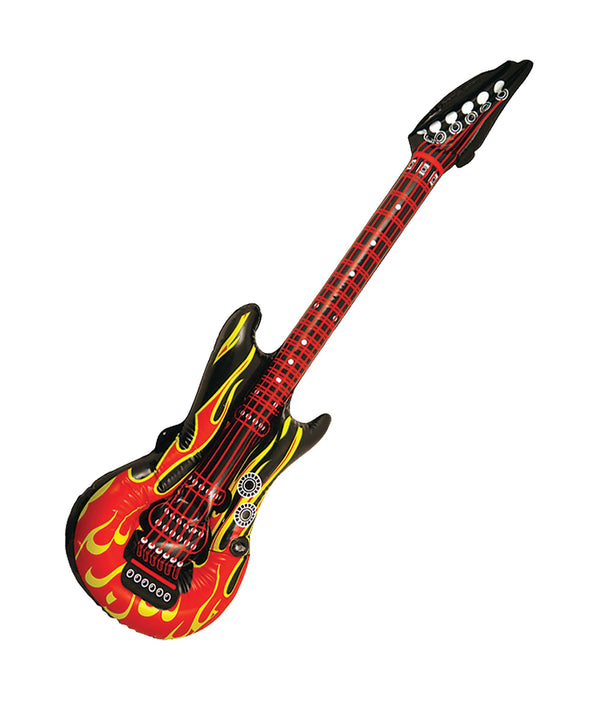 Inflatable Guitar Inflatable Items One Size Red Black