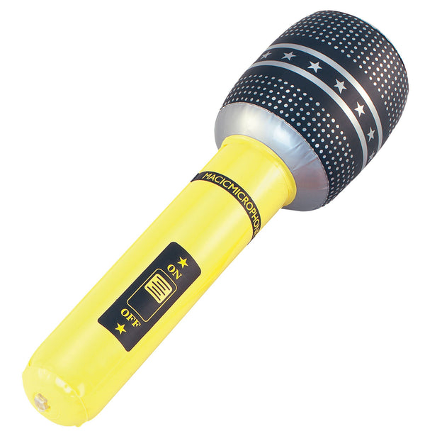 Inflatable Microphone 18 Inflatable Items 18  Yellow""""