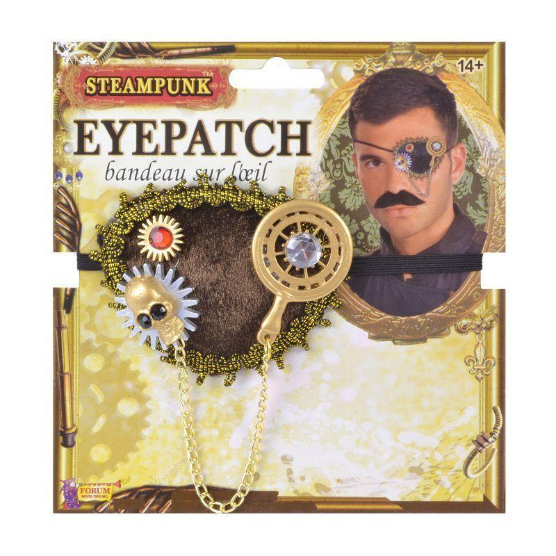 Steampunk Eyepatch |Miscellaneous Disguises| Male One Size - Miscellaneous Disguises Mad Fancy Dress