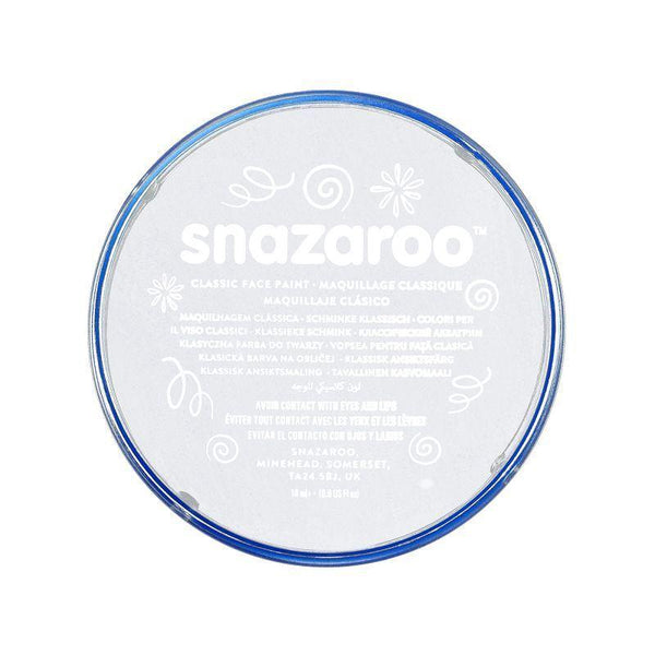 Snazaroo White 18 Ml Tubs |Make Up| Unisex 18Ml X 5 Pack - Make Up Mad Fancy Dress
