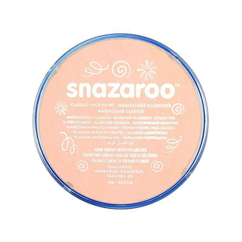 Snazaroo Complexion Pink 18Ml Tubs |Make Up| Unisex 18Ml X 5 Pack - Make Up Mad Fancy Dress