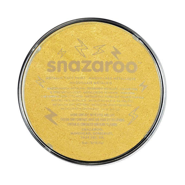Snazaroo Gold 18 Ml Tubs |Make Up| Unisex 18Ml X 5 Pack - Make Up Mad Fancy Dress
