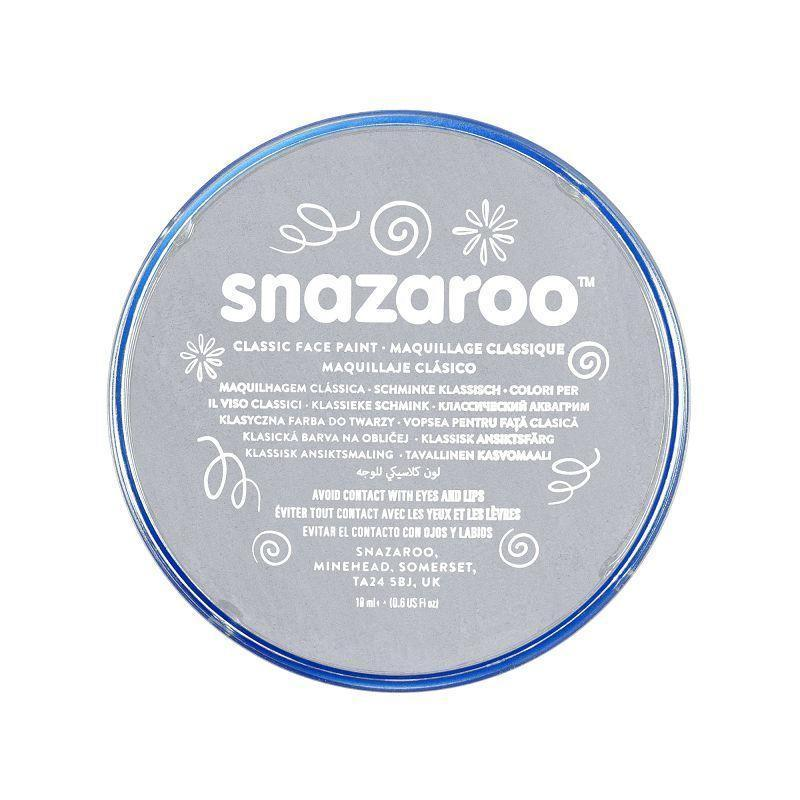 Snazaroo 18Ml Tub Light Grey |Make Up| Unisex 18Ml - Make Up Mad Fancy Dress