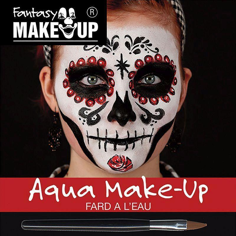 Day Of The Dead Aqua Makeup Kit |Make Up| Unisex One Size - Make Up Mad Fancy Dress