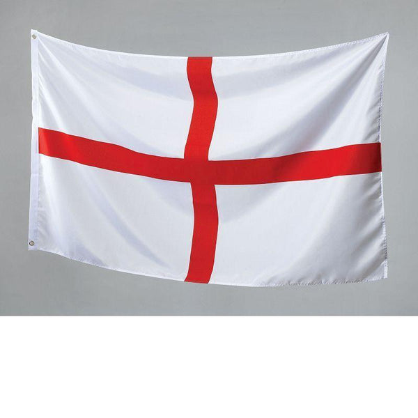 St George Flag 3Ft X 5Ft Cloth |Party Goods| Unisex 3 X 5 - Party Supplies Mad Fancy Dress