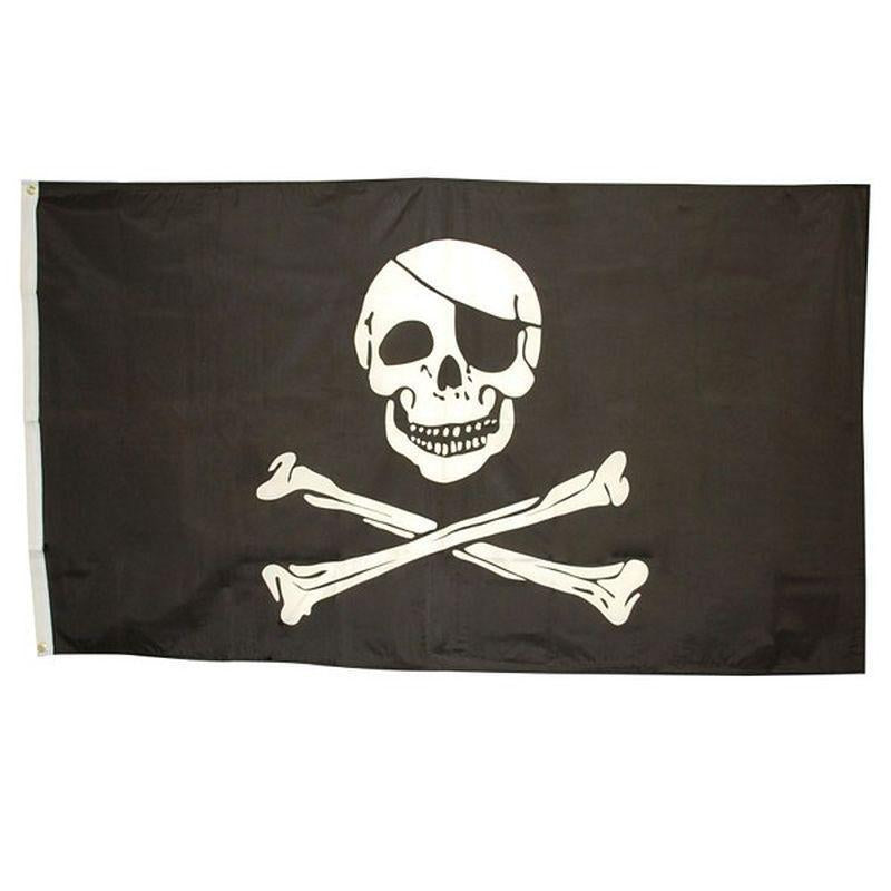 Skull & Crossbones Flag 3 X 5 |Party Goods| Unisex 3 X 5 - Party Supplies Mad Fancy Dress