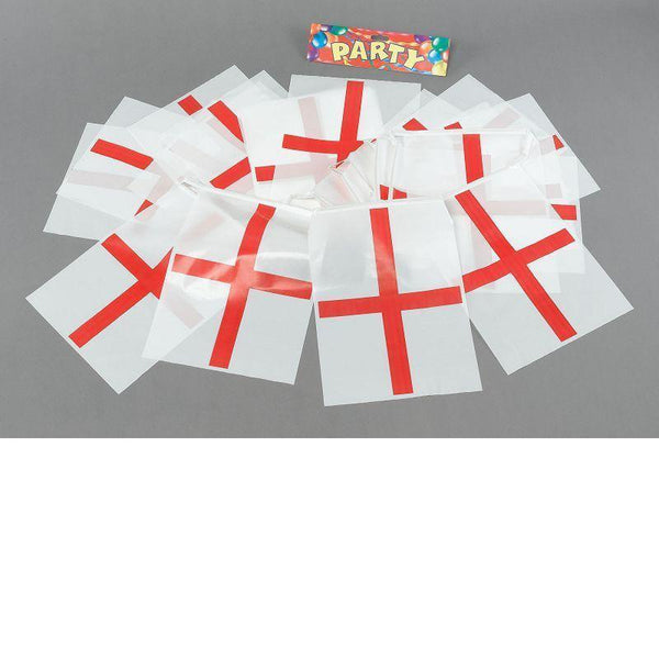 Bunting St George 7M 25 Flags |Party Goods| Unisex 7M - Party Supplies Mad Fancy Dress