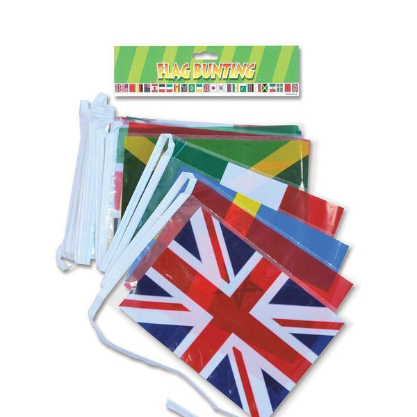 Multi Nation Bunting |Party Goods| Unisex One Size - Party Supplies Mad Fancy Dress