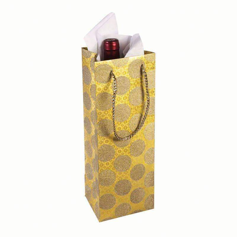Diamond Wine Bag Dot Gold