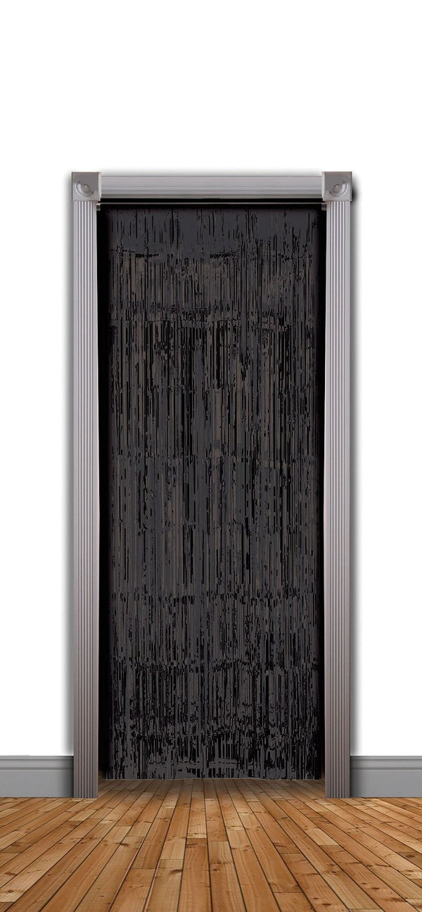 Doorway Curtain Black 240x94cm Party Goods Unisex One Size