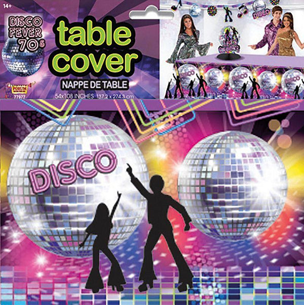 Disco Party Table Cover Party Goods One Size Fits Most