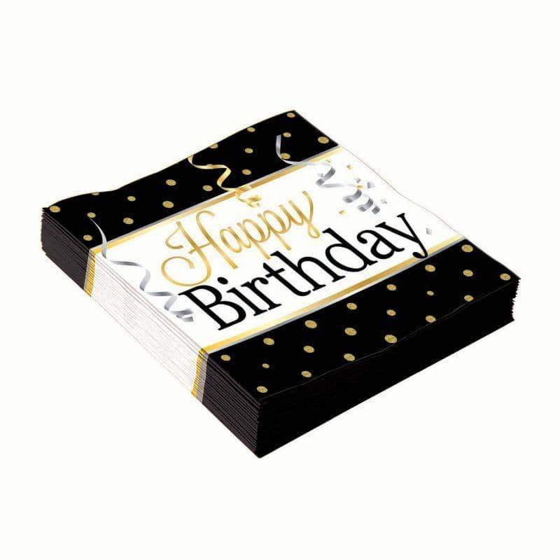 Birthday Elegant Large Napkins