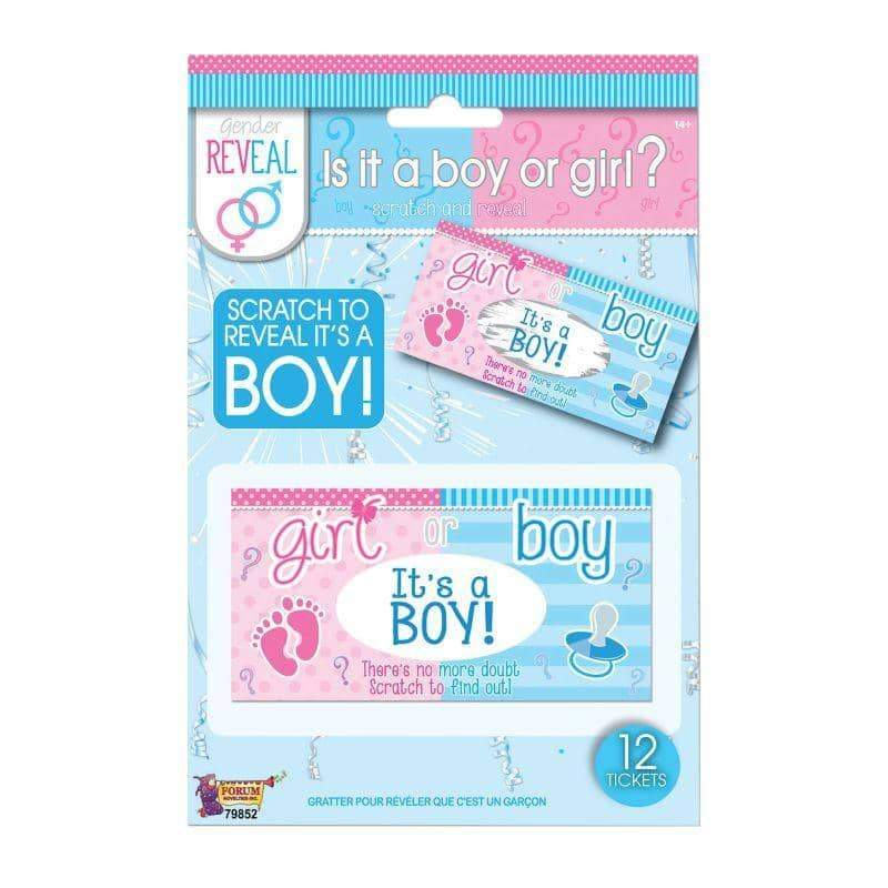 Gender Reveal Lotto Tickets Boy